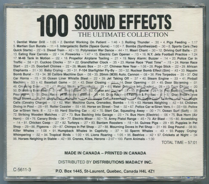 100 Sound Effects The Ultimate Collection Vol. 3 CD (Usado) - Almaraz Records | Tienda de Discos y Películas  - 2