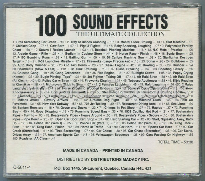 100 Sound Effects The Ultimate Collection Vol. 4 CD (Usado) - Almaraz Records | Tienda de Discos y Películas  - 2