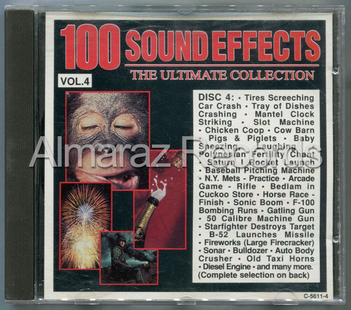 100 Sound Effects The Ultimate Collection Vol. 4 CD (Usado) - Almaraz Records | Tienda de Discos y Películas  - 1