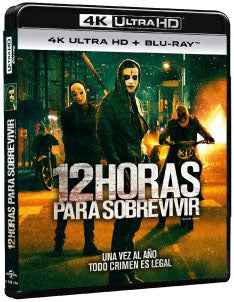 12 Horas Para Sobrevivir Blu-Ray 4K Ultra HD + Blu-Ray
