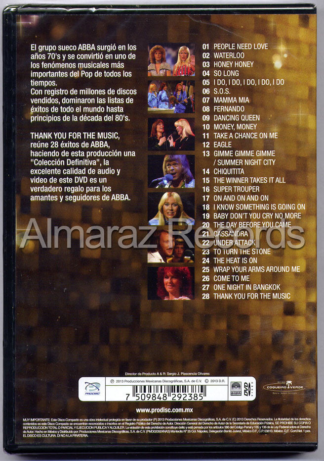ABBA Thank You For The Music DVD - Almaraz Records | Tienda de Discos y Películas  - 2