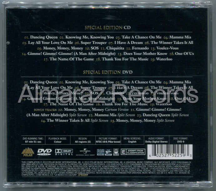 ABBA Gold Greatest Hits CD+DVD - Almaraz Records | Tienda de Discos y Películas  - 2