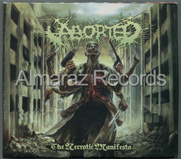 Aborted The Necrotic Manifiesto CD - Almaraz Records | Tienda de Discos y Películas  - 1