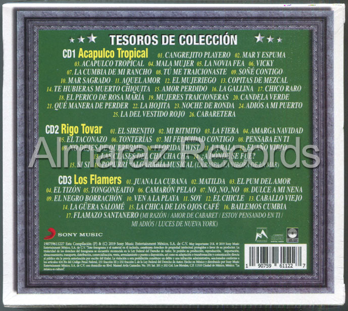 Tesoros De Coleccion Rigo Tovar Acapulco Tropical Los Flamers 3CD