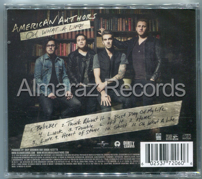 American Authors Oh, What A Life CD - Almaraz Records | Tienda de Discos y Películas  - 2