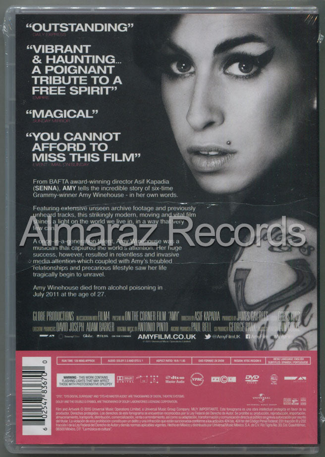 Amy Winehouse Amy DVD