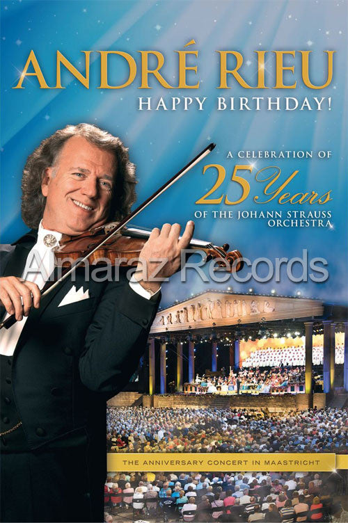 Andre Rieu Happy Birthday! A Celebration 25 Years Of Of Johann Strauss Orchestra DVD - Almaraz Records | Tienda de Discos y Películas