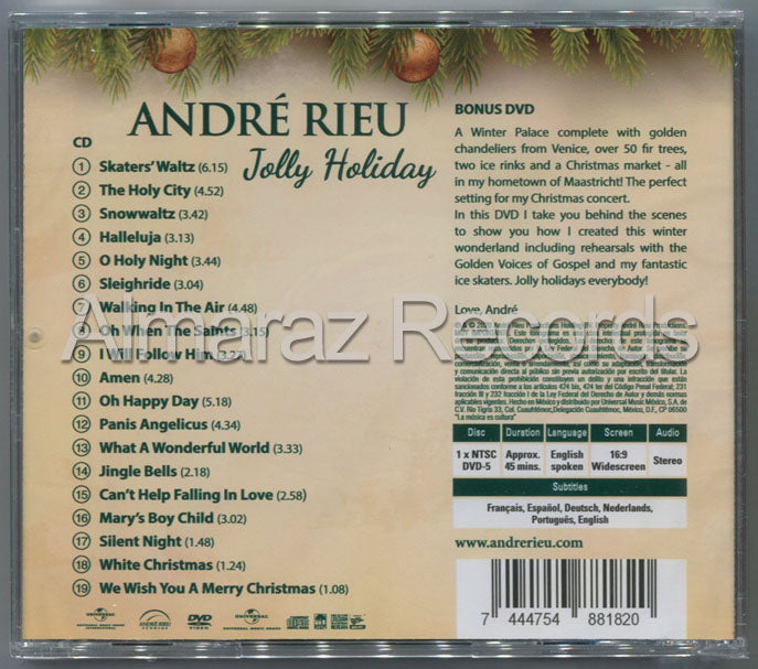 Andre Rieu Jolly Holiday CD+DVD