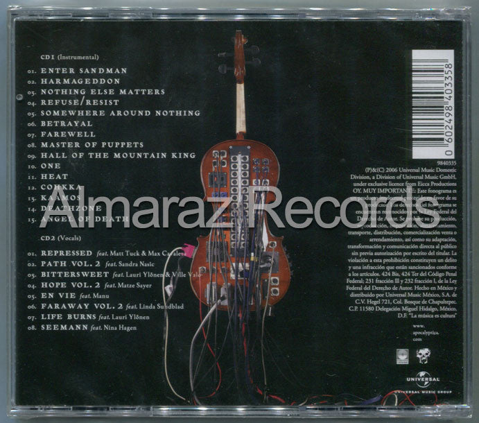 Apocalyptica Amplified A Decade Of Reinventig The Chello 2CD - Almaraz Records | Tienda de Discos y Películas  - 2