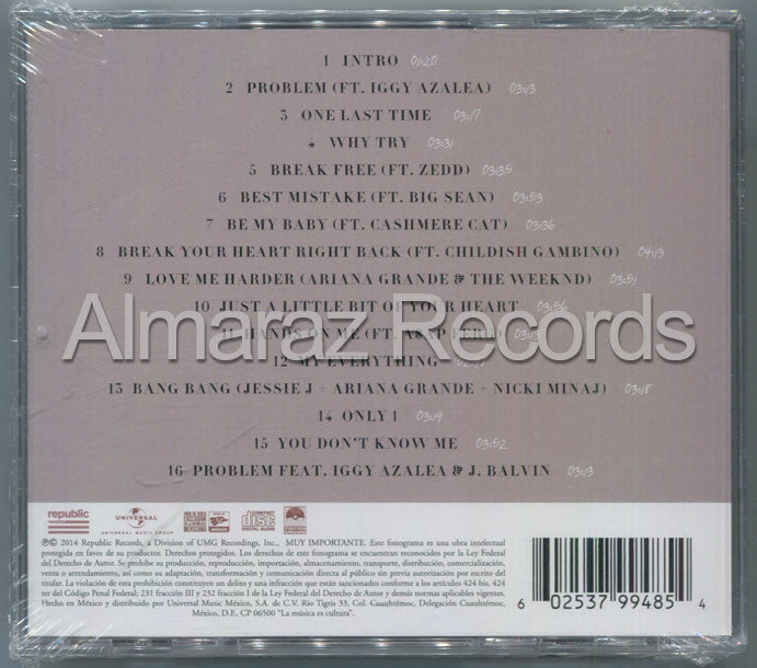Ariana Grande My Everything Deluxe CD - Almaraz Records | Tienda de Discos y Películas  - 2