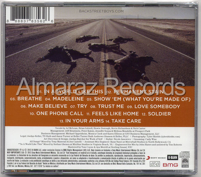 Backstreet Boys In A World Like This CD - Almaraz Records | Tienda de Discos y Películas  - 2
