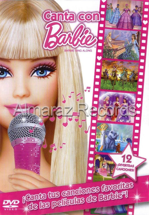Barbie Canta Con Barbie DVD - Barbie Sin Along - Almaraz Records | Tienda de Discos y Películas