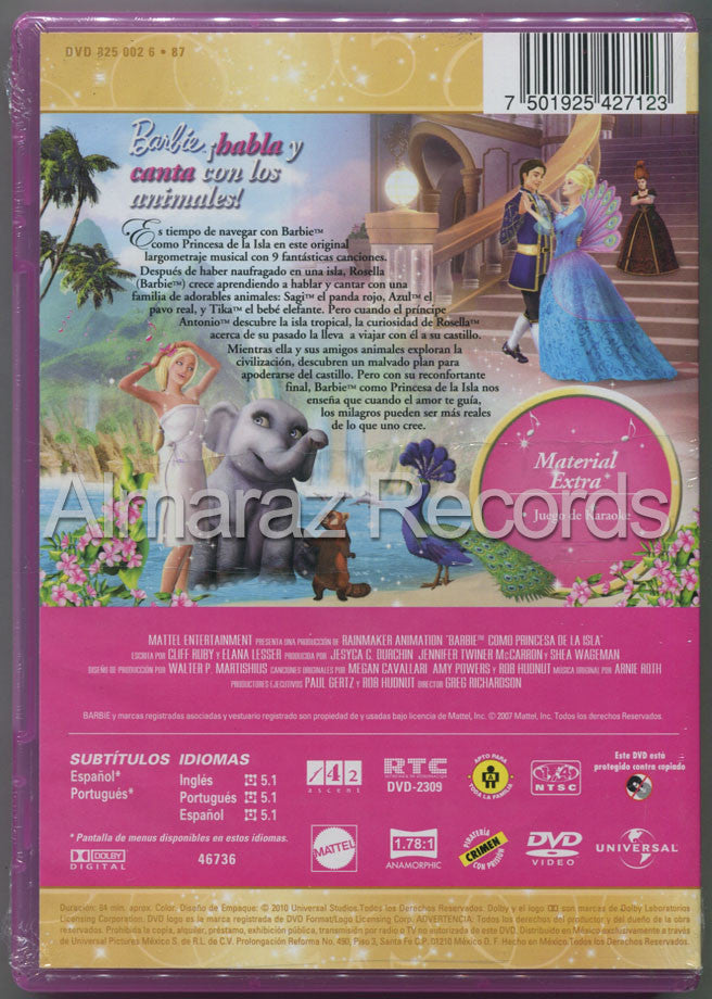Barbie Como Princesa De La Isla DVD - Barbie As The Island Princess - Almaraz Records | Tienda de Discos y Películas  - 2