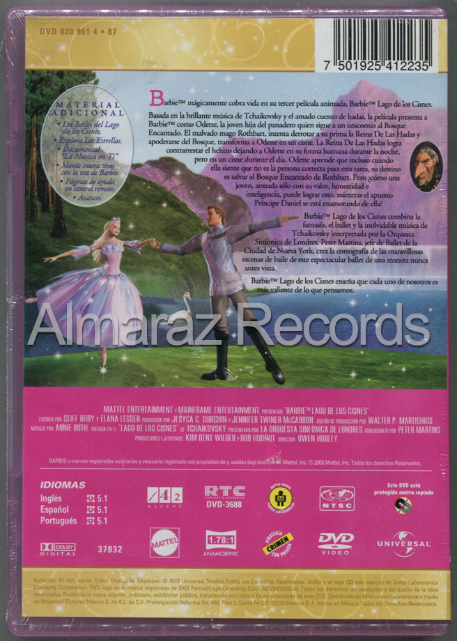 Barbie Lago De Los Cisnes DVD - Barbie Of Swan Lake - Almaraz Records | Tienda de Discos y Películas  - 2