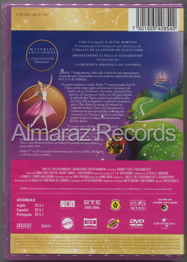 Barbie En El Cascanueces DVD - Barbie In The Nutcracker - Almaraz Records | Tienda de Discos y Películas  - 2
