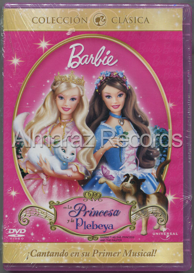 Barbie La Princesa Y La Plebeya DVD - Barbie As The Princess And The Pauper - Almaraz Records | Tienda de Discos y Películas  - 1