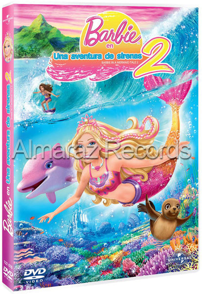 Barbie En Una Aventura De Sirenas 2 DVD - Barbie In A Mermaid Tale 2 - Almaraz Records | Tienda de Discos y Películas