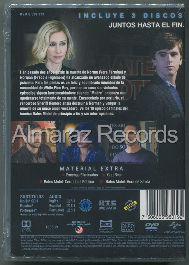 Bates Motel Temporada 5 DVD