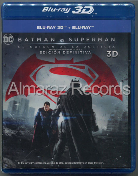 Batman Vs Superman El Origen De La Justicia Blu-Ray 3D+Blu-Ray+DVD
