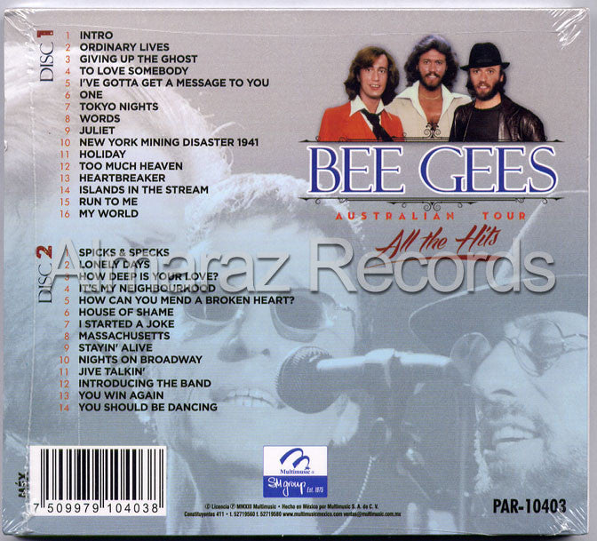 Bee Gees Australian Tour All The Hits 2CD - Almaraz Records | Tienda de Discos y Películas  - 2