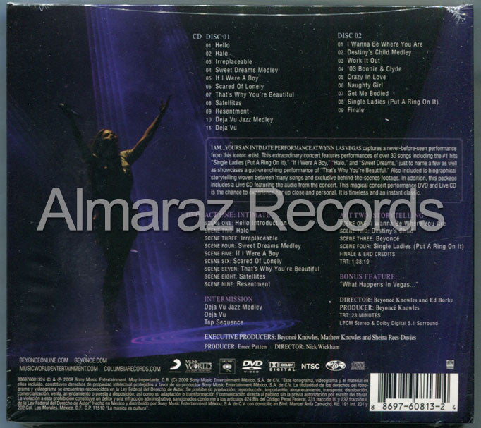 Beyonce I Am... Yours An Intimate Performance At Wynn Las Vegas 2CD+DVD - Almaraz Records | Tienda de Discos y Películas  - 2