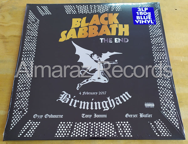 Black Sabbath The End Blue Vinyl LP