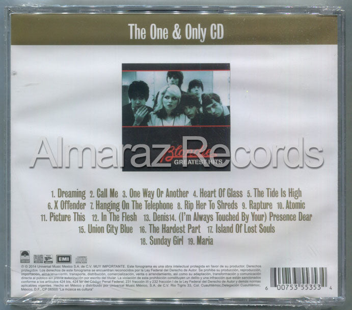 Blondie Greatest Hits CD - The One & Only CD