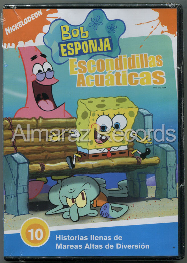 Bob Esponja Escondidillas Acuaticas DVD - Spongebob Squarepants Tide And Seek - Almaraz Records | Tienda de Discos y Películas  - 1