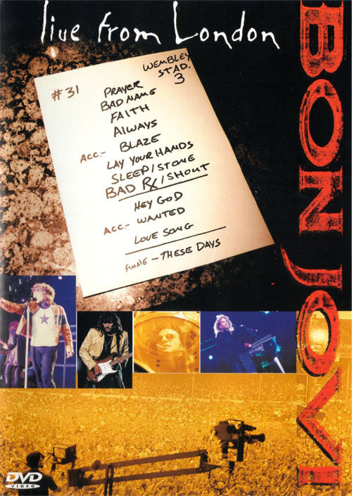 Bon Jovi Live From London DVD - Almaraz Records | Tienda de Discos y Películas