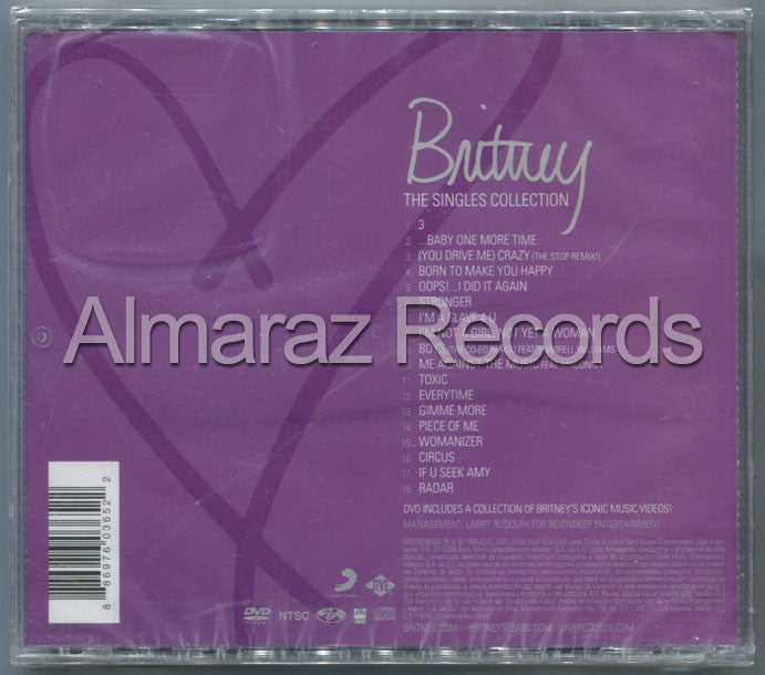 Britney Spears The Singles Collection CD+DVD - Almaraz Records | Tienda de Discos y Películas  - 2