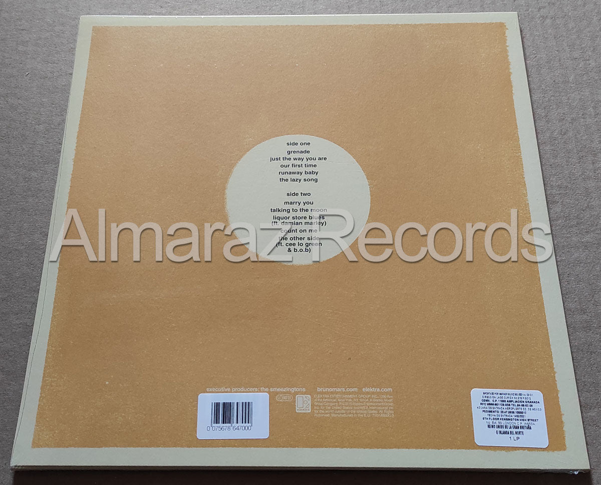 Bruno Mars Doo-Wops & Hooligans Yellow Vinyl LP
