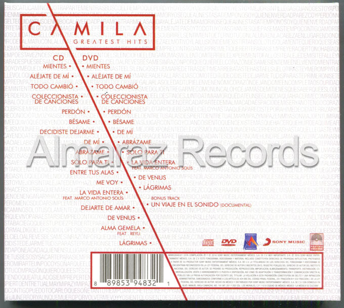 Camila Greatest Hits CD+DVD (Usado)