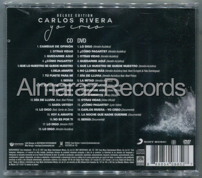 Carlos Rivera Yo Creo Deluxe Edition CD+DVD
