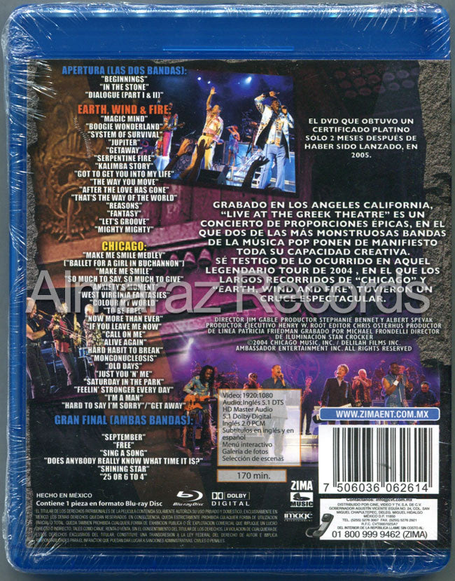 Chicago & Earth Wind And Fire Live At The Greek Theatre Blu-Ray - Almaraz Records | Tienda de Discos y Películas  - 2