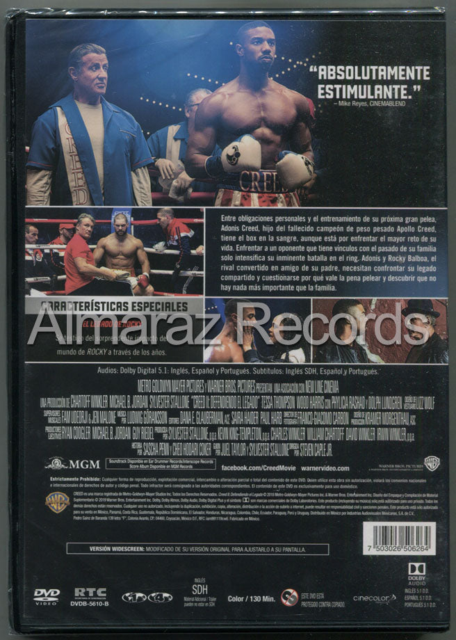 Creed 2 Defendiendo El Legado DVD