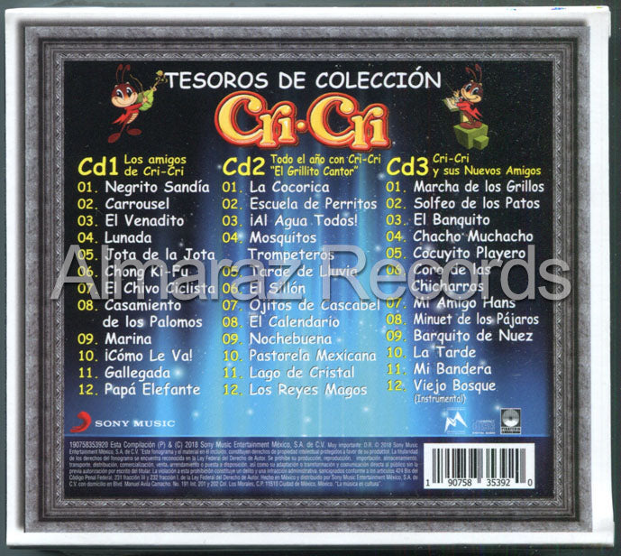Cri-Cri Tesoros De Coleccion Vol. 1 3CD