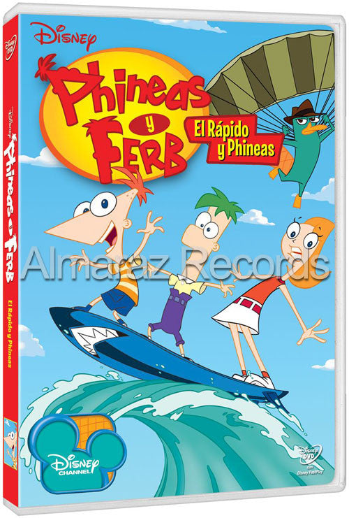 Phineas Y Ferb El Rapido Y Phineas DVD - The Fast And The Phineas - Almaraz Records | Tienda de Discos y Películas
