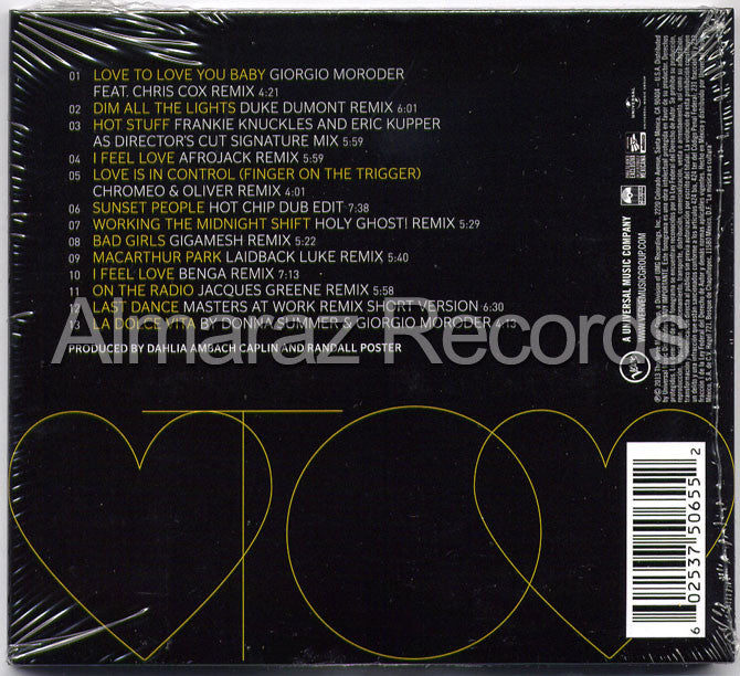 Donna Summer Love To Love You Donna CD - Almaraz Records | Tienda de Discos y Películas  - 2