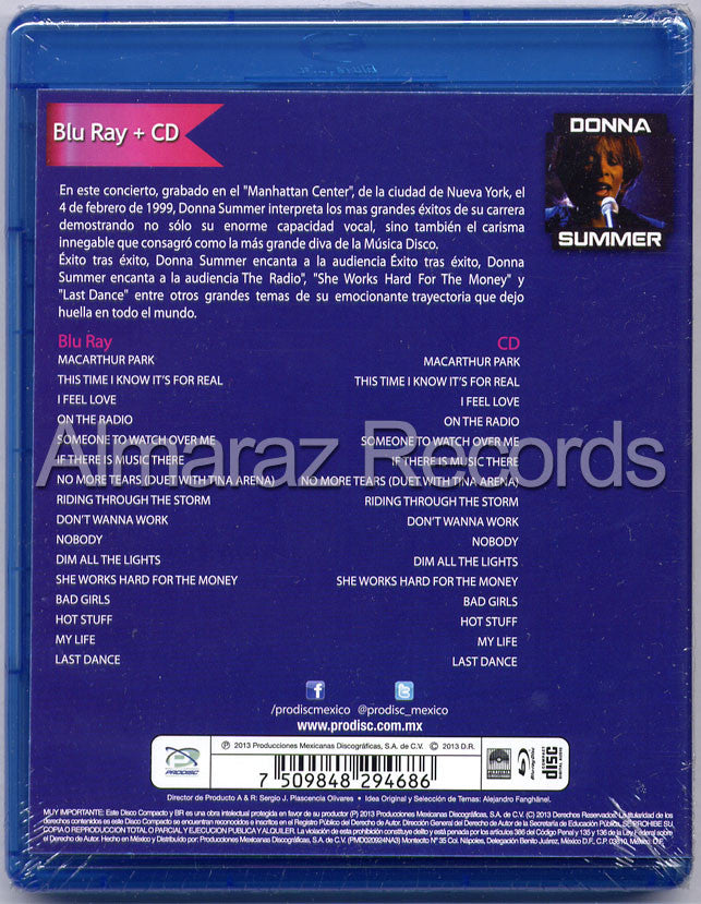 Donna Summer Live Blu-Ray+CD - Manhattan Center New York 1999 - Almaraz Records | Tienda de Discos y Películas  - 2