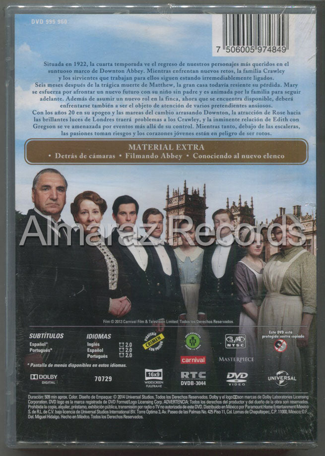 Downton Abbey Temporada 4 DVD