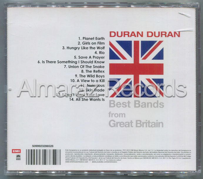 Duran Duran Best Band From Great Britain CD (Usado)