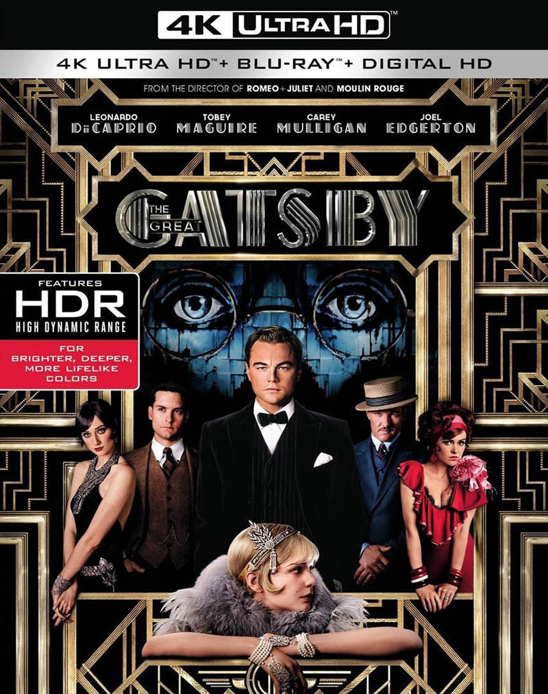 El Gran Gatsby Blu-Ray 4K Ultra HD + Blu-Ray