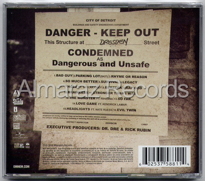 Eminem The Marshall Mathers LP 2 CD - MMLP2 - Almaraz Records | Tienda de Discos y Películas  - 2