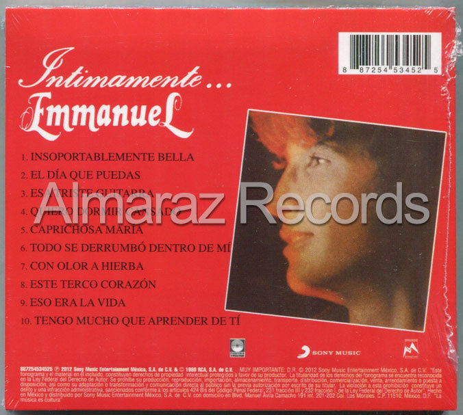 Emmanuel Intimamente CD