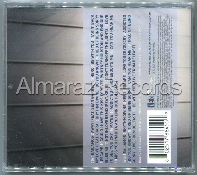 Enrique Iglesias Greatest Hits CD+DVD - Almaraz Records | Tienda de Discos y Películas  - 2