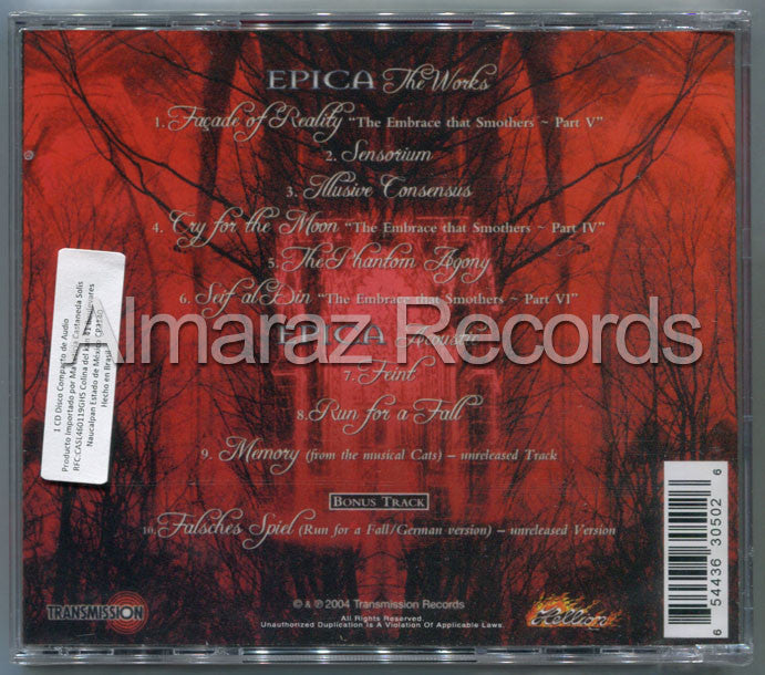 Epica We Will Take You With Us Live Brazil Edition CD [Import] - Almaraz Records | Tienda de Discos y Películas  - 2