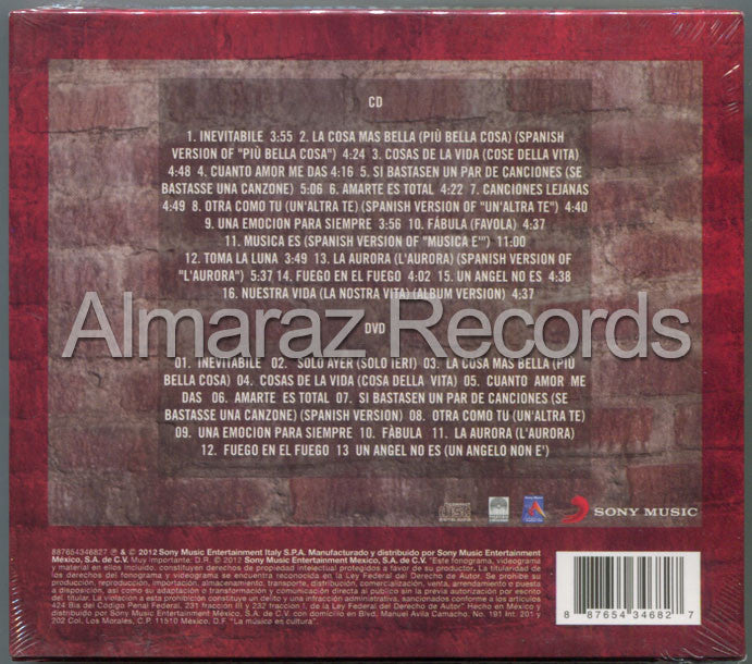 Eros Ramazzotti Best Love Songs CD+DVD - Almaraz Records | Tienda de Discos y Películas  - 2