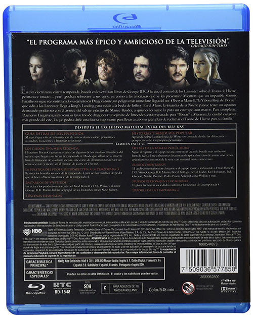 Game Of Thrones Temporada 4 4Blu-Ray - Almaraz Records | Tienda de Discos y Películas  - 2