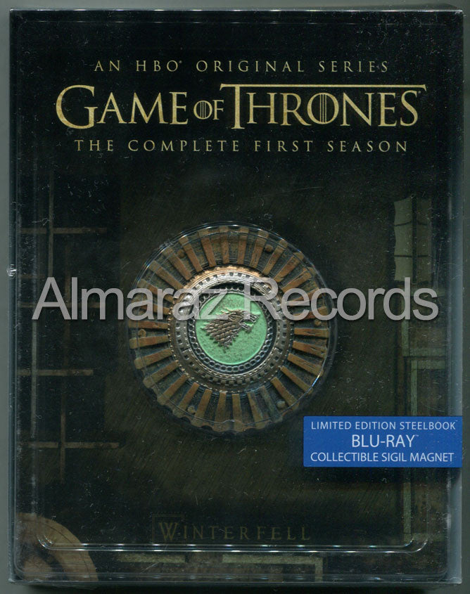 Game Of Thrones Temporada 1 Steelbook Blu-Ray + Medallon - Almaraz Records | Tienda de Discos y Películas  - 1