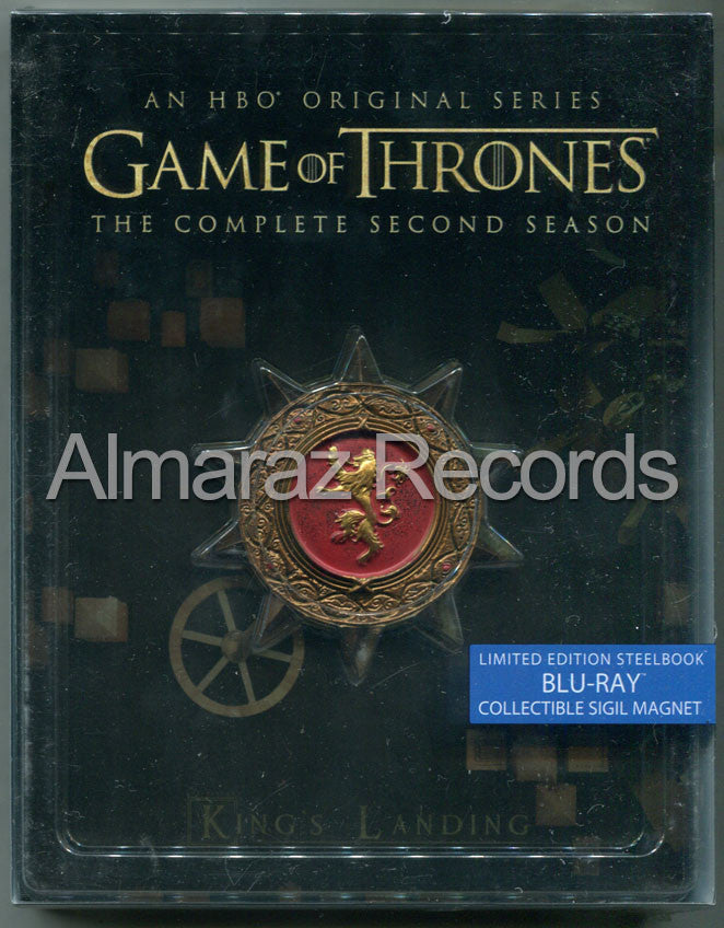 Game Of Thrones Temporada 2 Steelbook Blu-Ray + Medallon - Almaraz Records | Tienda de Discos y Películas